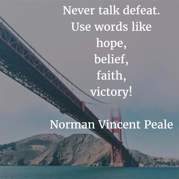 Norman Vincent Peale on Victory