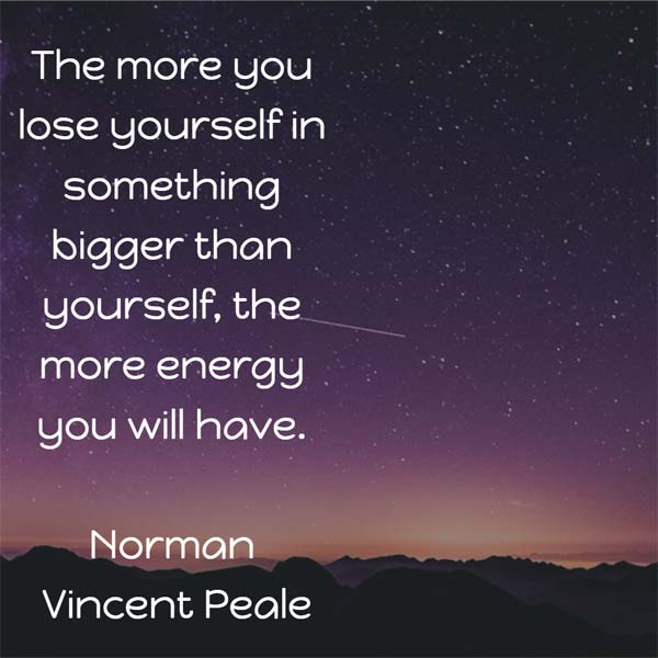 Norman Vincent Peale on energy