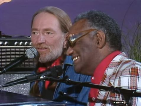 Ray Charles and Willie Nelson singing Seven Spanish Angels