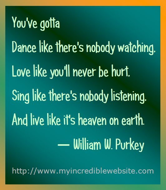 William Purkey on Dancing