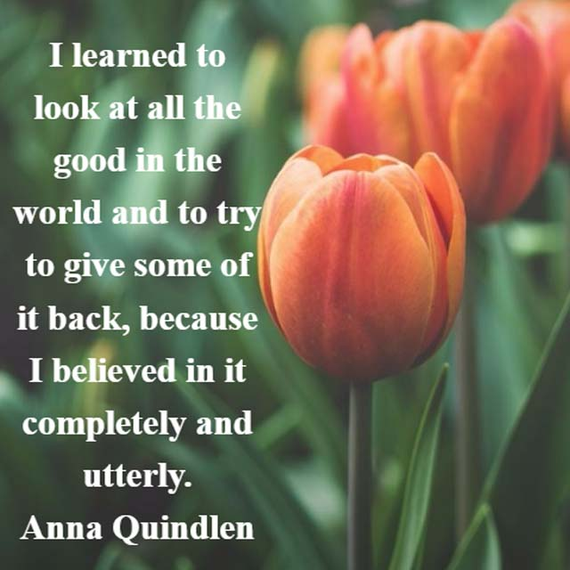Anna Quindlen: On the Good