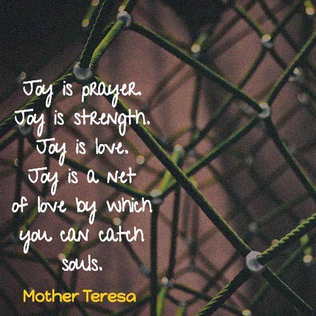 Mother Teresa on Joy