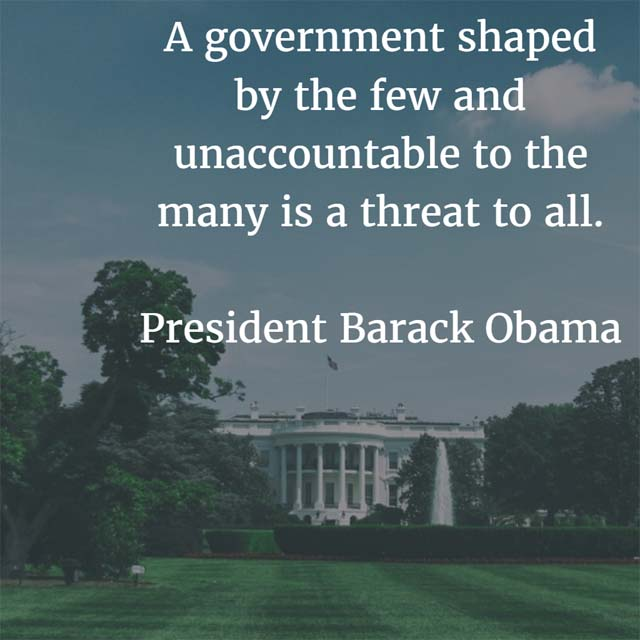 Barack Obama: On Government