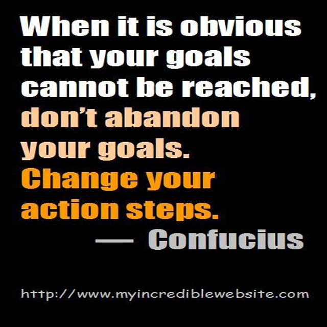 Confucious on Goals
