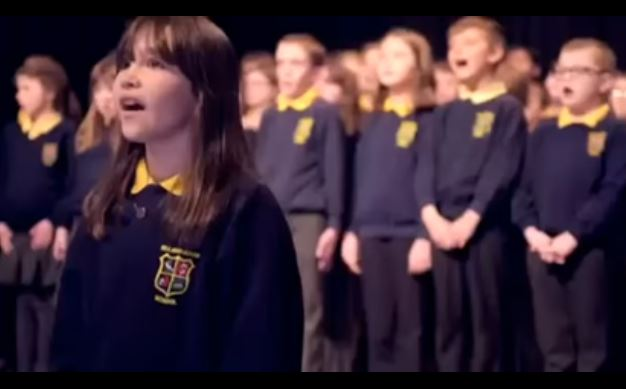 The children of the Killard House Special School led by Kaleigh sing Hallelujah. These children do an incredible job in singing Hallelujah. Fantastic! Love the song. Love the singers!