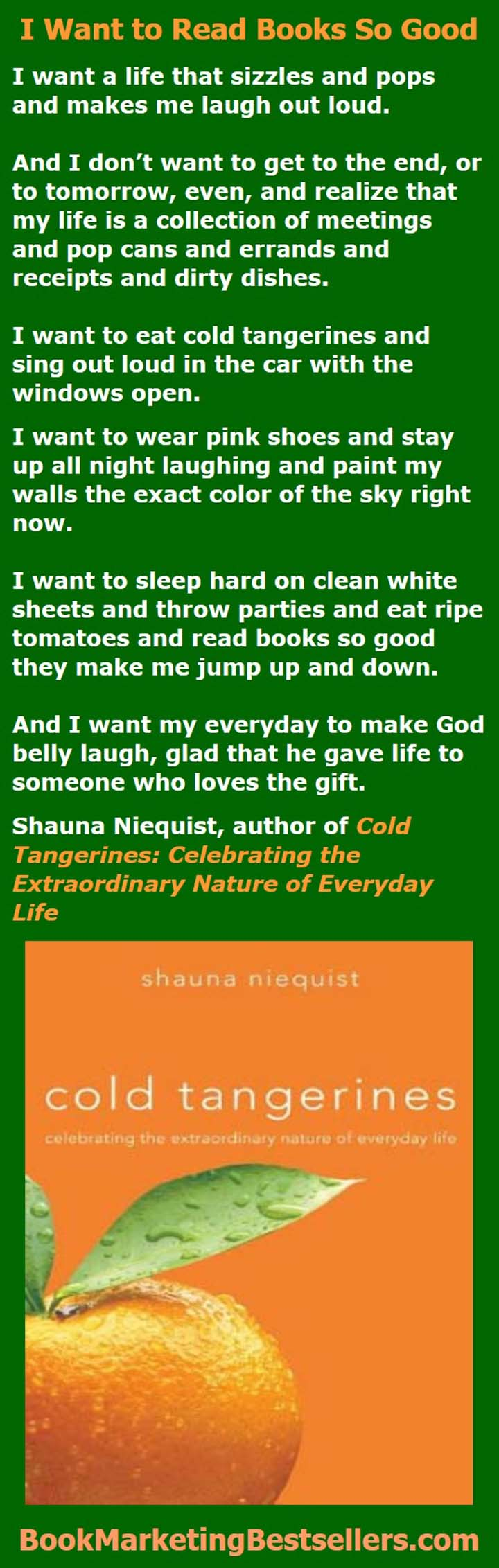 Shauna Niequist's Cold Tangerines