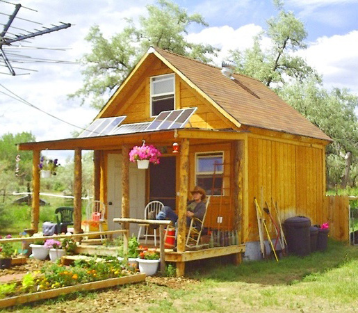 Home Sweet Home wood cabin #tinyhouses