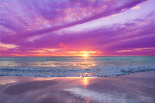 Purple Sunset: Pinterest pins of sunsets and sunrises