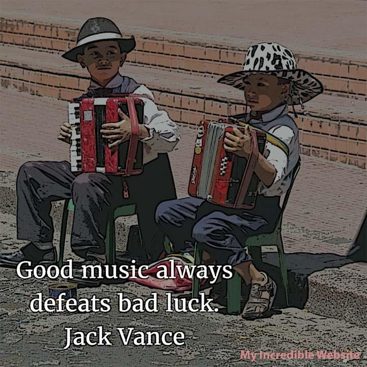 Jack Vance on Music