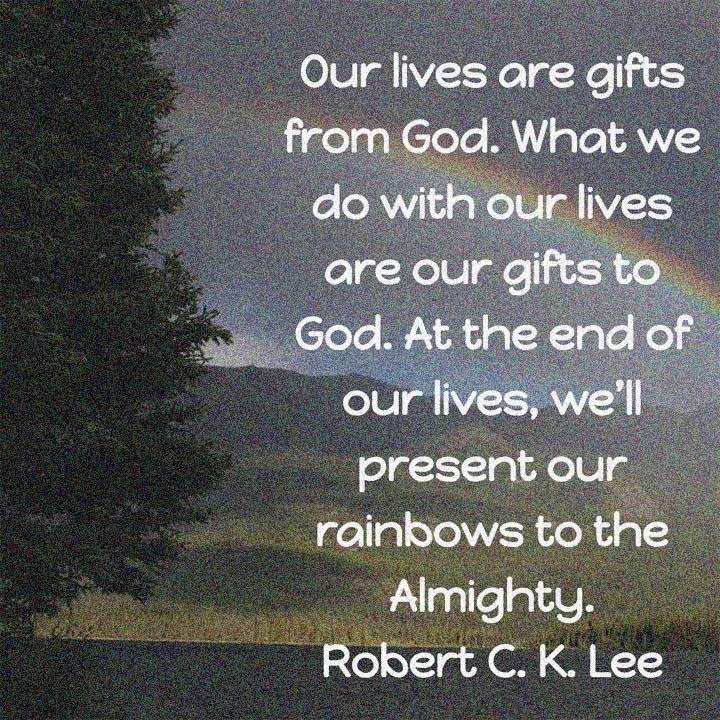Robert C K Lee on our gifts to God