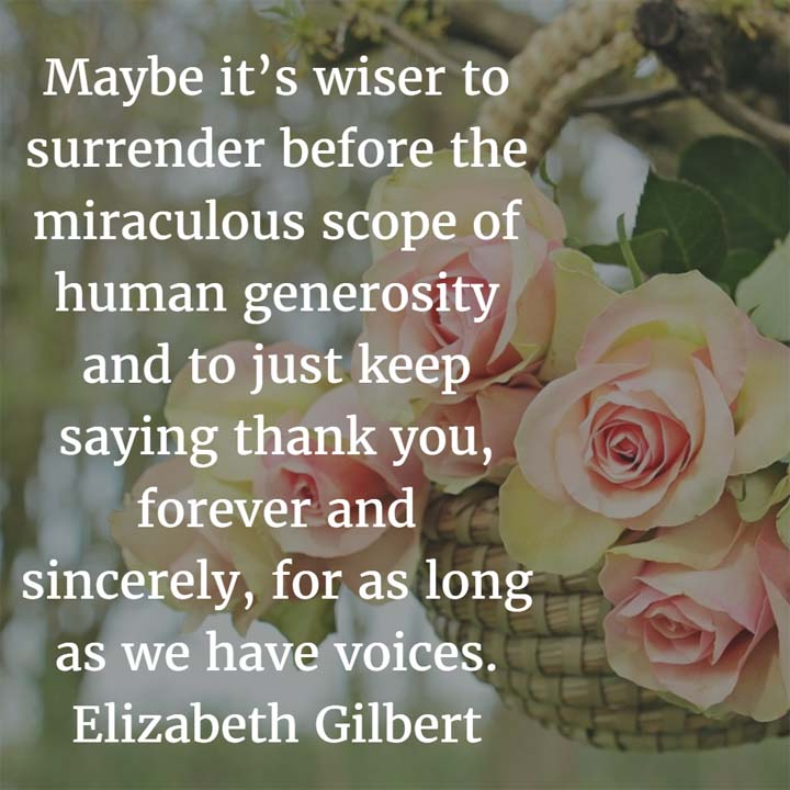 Elizabeth Gilbert on Gratitude