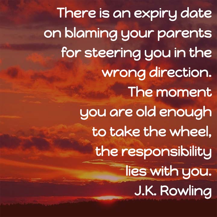J K Rowling on Responsibility