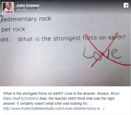 Facebook Love: What is the strongest force on earth? Love is the answer. Always. #love