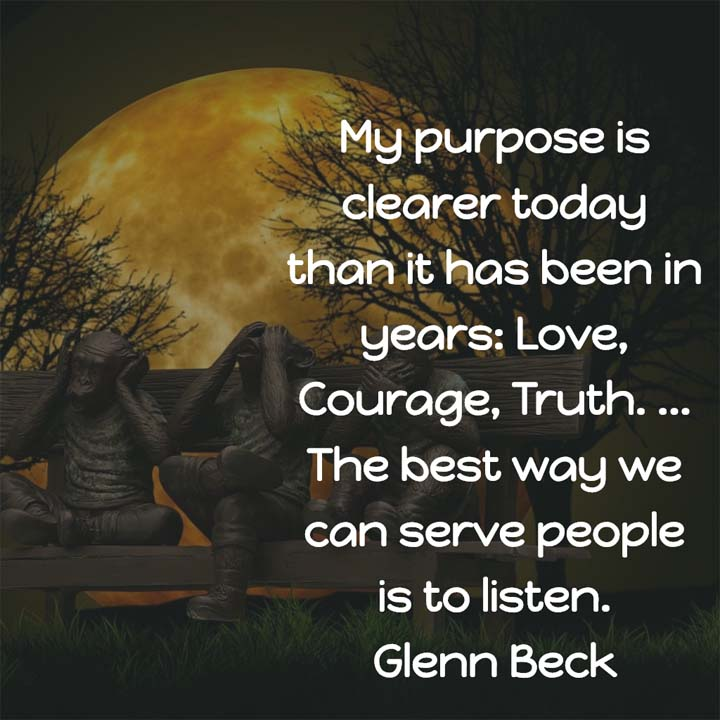 Glenn Beck on Listening