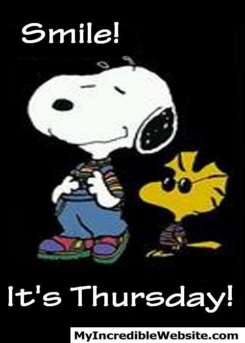 Snoopy Thursday: Smile! It's Thursday! #ThinkPositiveThursday