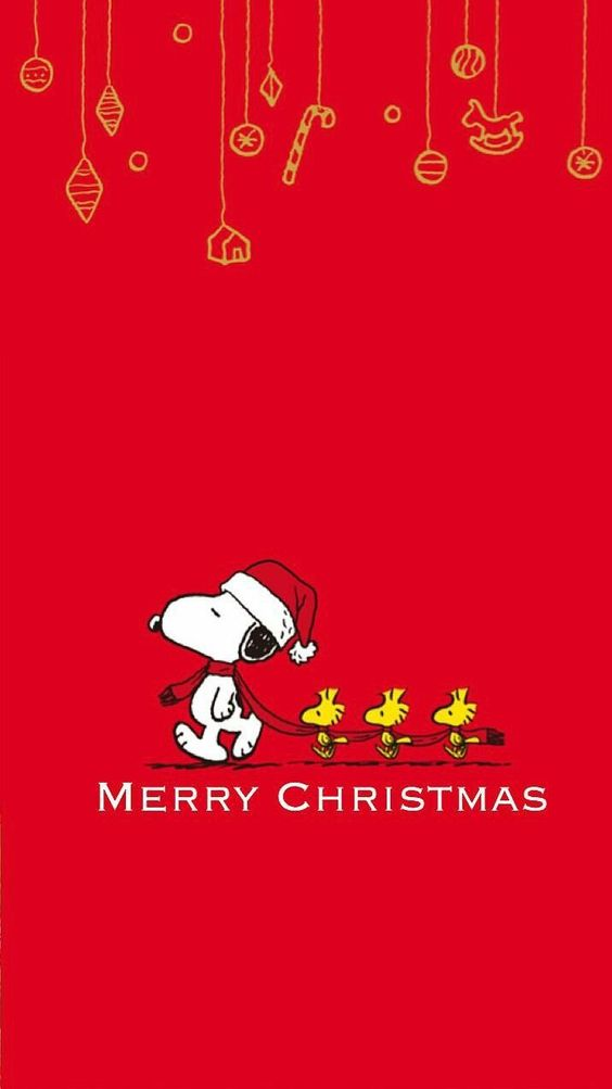 Snoopy And Woodstock Christmas.Merry Christmas From Snoopy And Woodstock