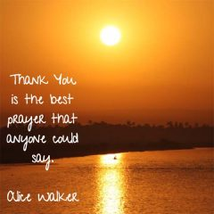 Alice Walker on Thank You