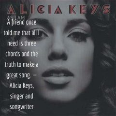 Alicia Keys on Making a Great Song