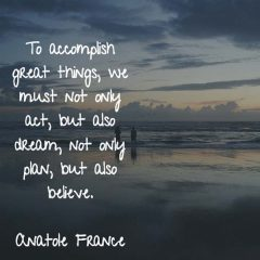 Anatole France: Dream and Believe