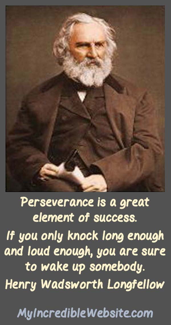 Henry Wadsworth Longfellow: On Perseverance