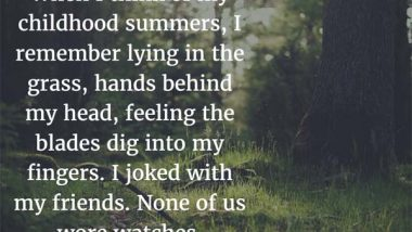 Mitch Albom on Childhood Summers