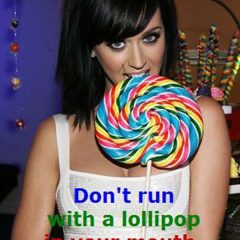 Mom's Rule #1: Don't run with a lollipop