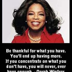 Oprah Winfrey on Giving Thanks