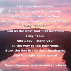 Roma Downey on Prayer and Gratitude