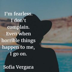 Sofia Vergara on Fearlessness