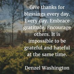 On Giving Thanks