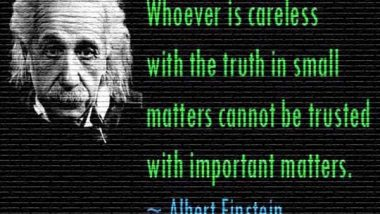 Albert Einstein: On Truth