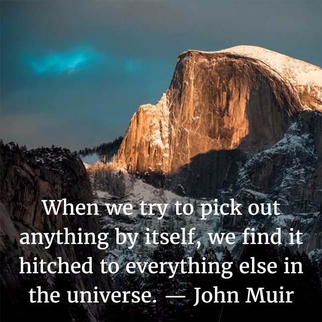 John Muir: On the Universe