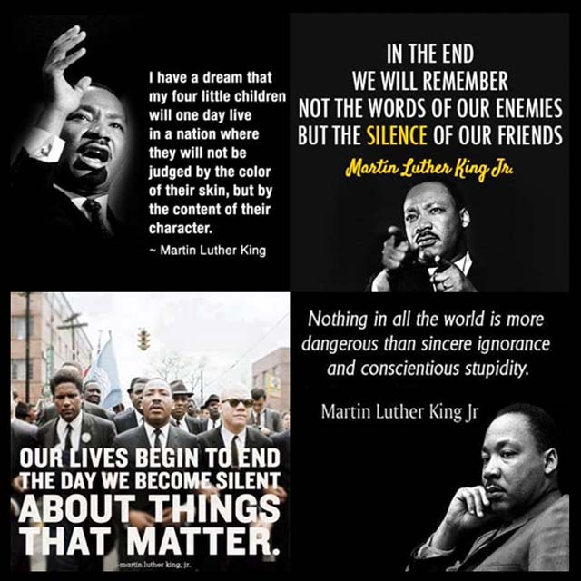Martin Luther King Jr: I have a dream that my four little children will one day live in a nation where they will not be judged by the color of their skin, but by the content of their character.