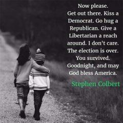 Stephen Colbert: God Bless America