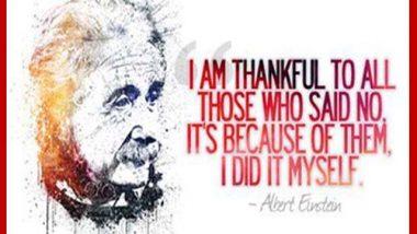 Albert Einstein on saying no