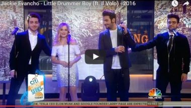 Little Drummer Boy on the Today Show