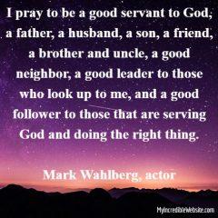 Mark Wahlberg on God