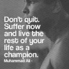 Muhammad Ali on never quitting