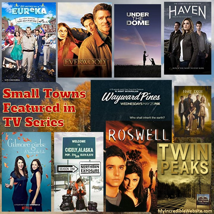 TV Shows Set in Small Tow - Some of my favorite TV series have been set in small towns (mostly fictional towns).