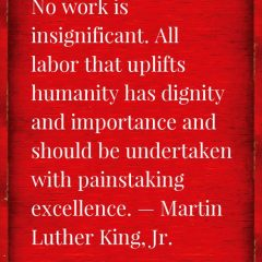Martin Luther King on Work