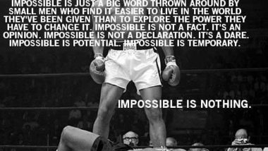 Muhammad Ali on Impossible