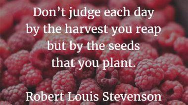 Robert Louis Stevenson on Harvests