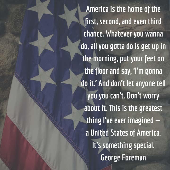 George Foreman on America