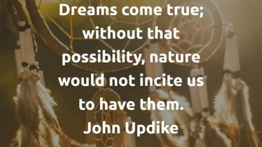 John Updike on Dreams Coming True
