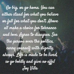 Joy Villa on Tolerance and Love