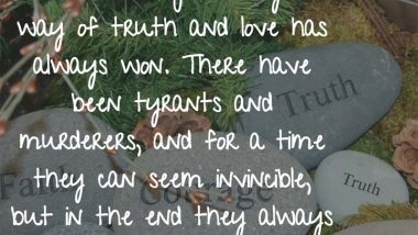 Mahatma Gandhi on Truth and Love