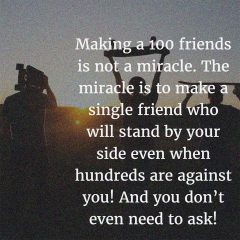 Making Friends Is a Miracle!