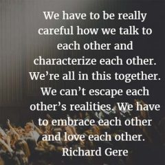 Richard Gere: Talk to Each Other