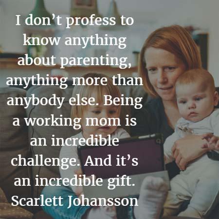 Scarlett Johansson on parenting