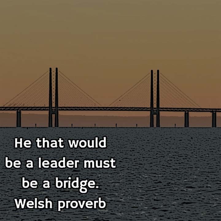 He that would be a leader must be a bridge. — Welsh proverb